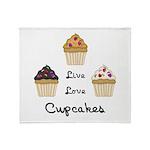 Live Love Cupcakes Throw Blanket