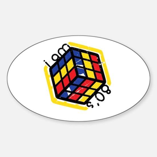 I am 80's -- Sticker (Oval)