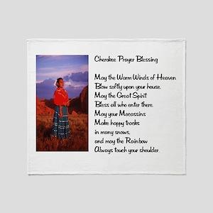 Cherokee Prayer Throw Blanket