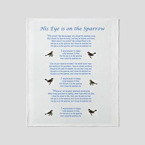 Eye On The Sparrow Throw Blanket