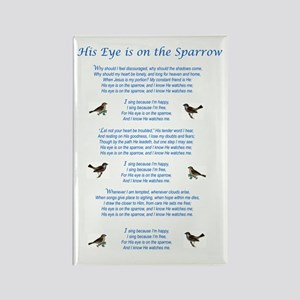 Eye On The Sparrow Rectangle Magnet