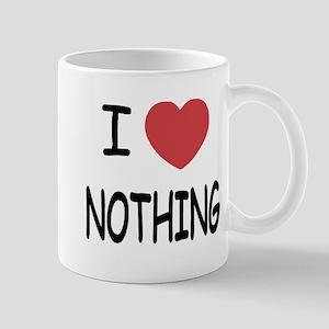 I heart nothing Mug