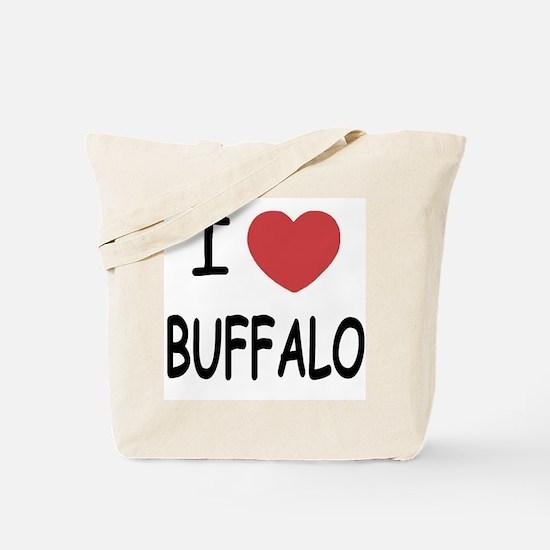 I heart buffalo Tote Bag