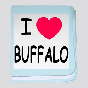 I heart buffalo baby blanket