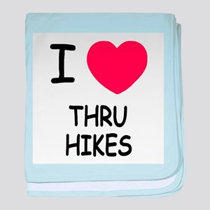 I heart thru hikes baby blanket