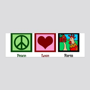 Peace Love Farm 36x11 Wall Decal