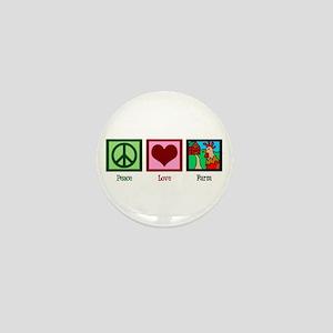 Peace Love Farm Mini Button