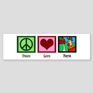 Peace Love Farm Sticker (Bumper)