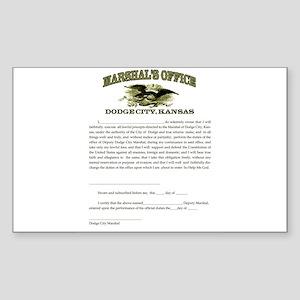 Dodge City Marshal Sticker (Rectangle)