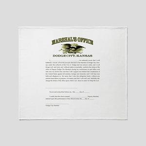 Dodge City Marshal Throw Blanket