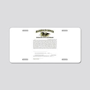 Dodge City Marshal Aluminum License Plate