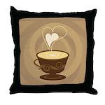Coffee Lovers Throw Pillow