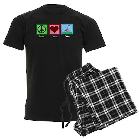 Peace Love Geese Men's Dark Pajamas
