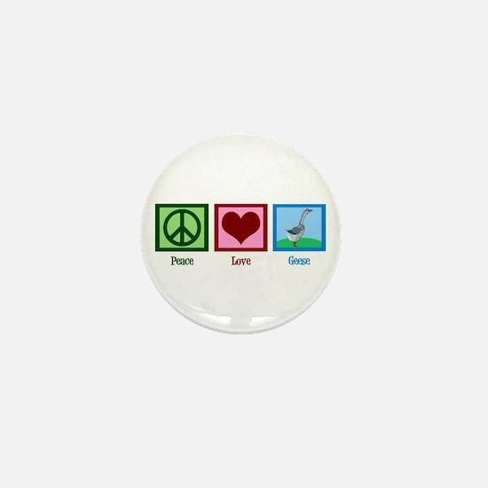 Peace Love Geese Mini Button