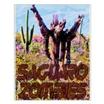 Saguaro Zombies Zombie 3 Small Poster