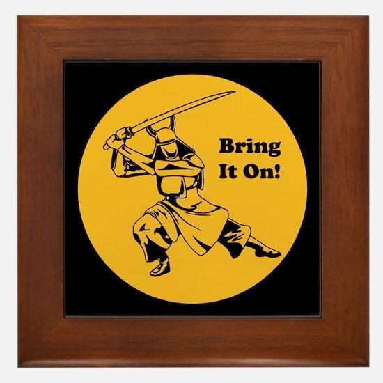 Bring it On Framed Tile
