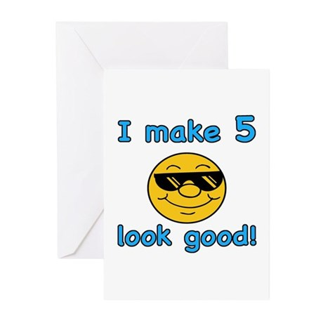 Funny 5th Birthday (Blue) Greeting Cards (Pk of 20