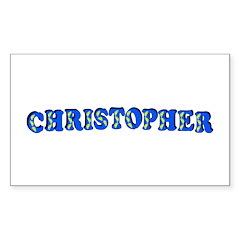 Christopher Sticker (Rectangle 10 pk)