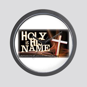 Holy is His Name Wall Clock