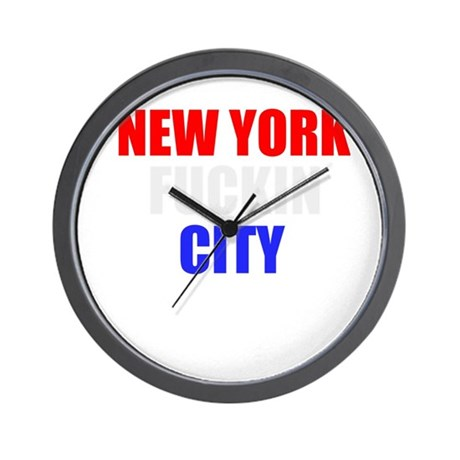 New York Fuckin City USA Amer Wall Clock