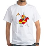 Medieval Knight White T-Shirt