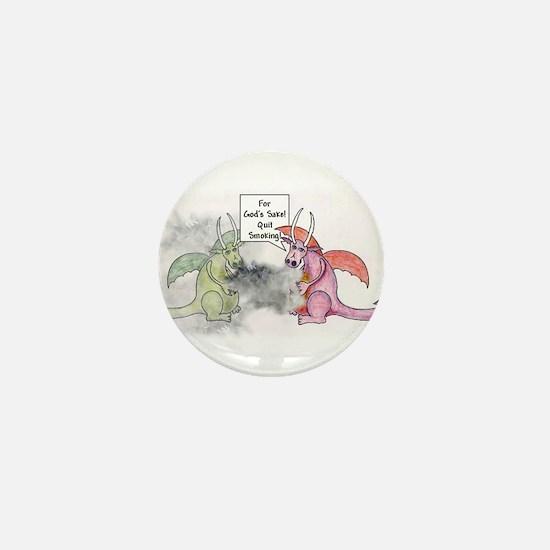 Smoking Dragon Mini Button