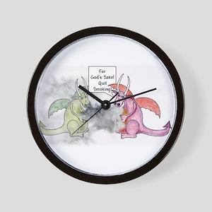 Smoking Dragon Wall Clock