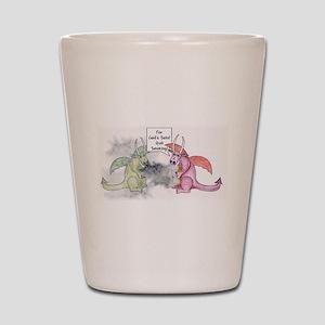 Smoking Dragon Shot Glass