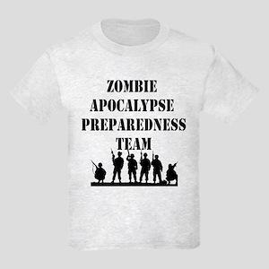 Zombie Apocalypse Preparedness Team Kids Light T-S
