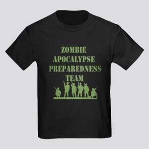 Zombie Apocalypse Preparedness Team Kids Dark T-Sh