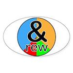 ANDrew / ANDrea Sticker (Oval 50 pk)
