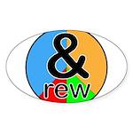 ANDrew / ANDrea Sticker (Oval 10 pk)