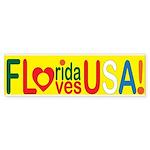 Florida Loves U.S.A. Sticker (Bumper 10 pk)