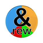 """ANDrew / ANDrea 3.5"""" Button (100 pack)"""