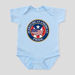 Puerto Rican American Pride Infant Bodysuit