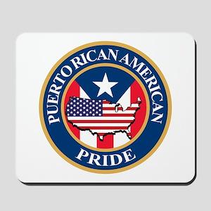 Puerto Rican American Pride Mousepad