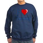 I Heart Running Sweatshirt (dark)
