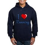 I Heart Running Hoodie (dark)