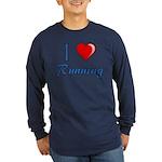 I Heart Running Long Sleeve Dark T-Shirt