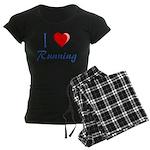 I Heart Running Women's Dark Pajamas