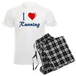 I Heart Running Men's Light Pajamas