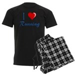 I Heart Running Men's Dark Pajamas