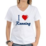 I Heart Running Women's V-Neck T-Shirt