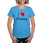 I Heart Running Women's Dark T-Shirt