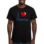 I Heart Running Men's Fitted T-Shirt (dark)