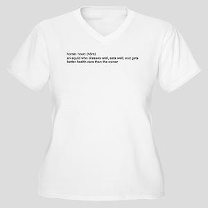 Horse Definition Women's Plus Size V-Neck T-Shirt