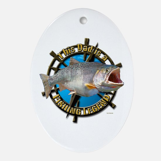 Dad the legend Ornament (Oval)