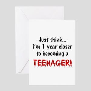Baby Teen Humor Greeting Card