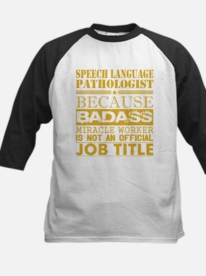 Speech Lang Patholog Bcause Miracl Baseball Jersey