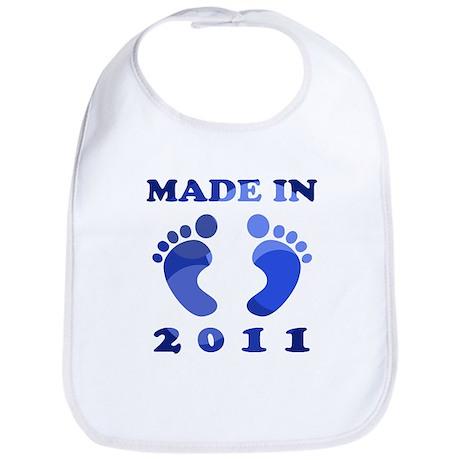 Made In 2011 (Blue) Bib